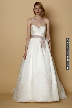 wedding gown by Rita Vinieris | CHECK OUT MORE IDEAS AT WEDDINGPINS.NET | #bridesmaids
