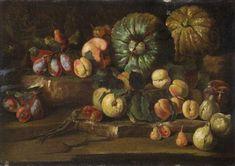 Natura morta con pesche, fichi, susine e zucche by Abraham Brueghel (Flemish, .oil on canvas x cm Global Art, Art Market, Oil On Canvas, Painting, Painting Art, Paintings, Painted Canvas, Drawings