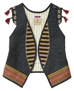 Embellished Tassel Gilet from the girls section of Scotch and Soda