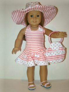 Halter dress with matching hat and purse