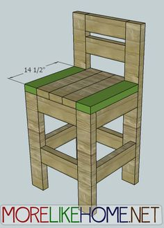 More Like Home: Day 23 - Build a Chunky Bar Stool