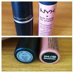 MAC Velvet Teddy (Matte) Lipstick dupe NYX in Stockholm