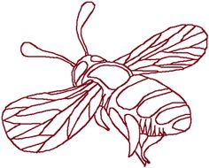 Redwork Bee Embroidery Design