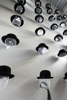 Zippertravel + Hats off to Takeo Kikuchi Shibuya - Shibuya, Japan - 2012 - Schemata Architects. Hat Display, Visual Display, Display Design, Store Design, Takeo, Cabinet D Architecture, Visual Merchandising Displays, Retail Displays, Hat Stores