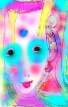 her colored face ~ crystal Art