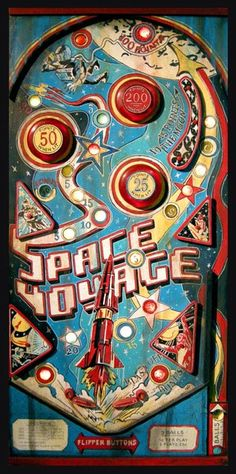 Pinball Space Voyage painting