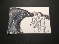 cartolina postcard spaceman fantasy di WonderlandColor su Etsy