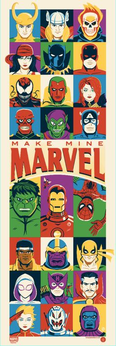 "Grey Matter Art unveils a limited edition screen print titled, ""Make Mine Marvel"" by artist Dave Perillo! Now available on GreyMatterArt.com. - Marvel Entertainment - Google+"