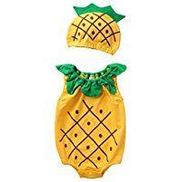 LIVEBOX Cute Fruits Summer Prewalker Toddler Romper Set for Baby Girls and Boys