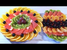 Beautiful Fruit Slicing on the Festive Table! 2 Festive plates for the New Year! Fruit Platter Designs, Deco Fruit, Vegetable Carving, Fruit Slice, Beautiful Fruits, New Cooking, Food Presentation, Fruits And Vegetables, Fruit Salad