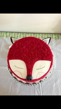 Fox cake so cute! Pretty Cakes, Cute Cakes, Beautiful Cakes, Amazing Cakes, Fox Cake, Animal Cakes, Piece Of Cakes, Creative Cakes, Cute Food