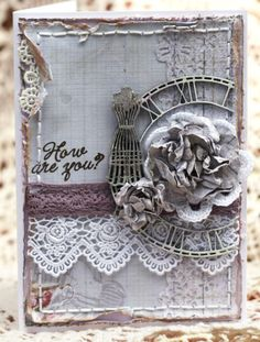 clock and dress form die cute or wood embellishments - very nice
