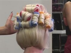 How To Put Your Hair In Hot Rollers - YouTube