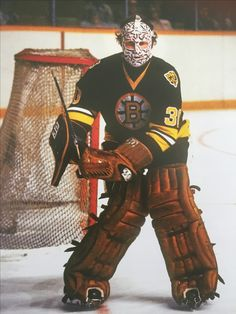 Gerry Cheevers - The Decisive Moment, photographs from the Dennis Miles collection; Hockey Goalie, Hockey Teams, Hockey Stuff, Boston Bruins Goalies, Hockey Room, Bobby Orr, Goalie Mask, Boston Strong, Boston Sports