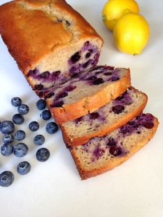 Blueberry lemon yoghurt cake