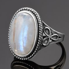 Our Oval Rainbow Moonstone Ring 925 Sterling Silver is made with pure 925 Sterling Silver and natural Rainbow Moonstone. Available in sizes US6-10.  Features: 925 Sterling Silver Rainbow Moonstone Vintage Sizes US6-10 Free Shipping Engagement Jewelry, Wedding Jewelry, Rainbow Moonstone Ring, Bohemian Rings, Party Rings, Types Of Rings, Vintage Party, Ring Designs, Vintage Jewelry