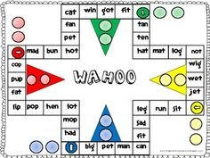 Wahoo Word Game- ar words, This word game is played like the game of Sorry. I created this game with only ar words to provide students with practice reading words with. Kindergarten Reading, Reading Activities, Teaching Reading, Reading Games, Letter Activities, Reading Groups, Student Reading, First Grade Sight Words, Reading Words