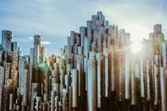 The Sibelius Monument is dedicated to the Finnish composer Jean Sibelius, located at the district of Töölö | (c) Jussi Hellsten, jussihellsten.com & visithelsinki.fi Helsinki, New York Skyline, Places To Go, Travel, Spaces, Sport, Movie, Finland, To Study
