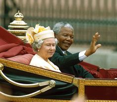 1996 State Visit from President of South Africa, Nelson Mandela. He called her Elizabeth from the start and is likely the only person in history who could get...