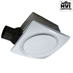 Shop Aero Pure LLC Adjustable-Speed DC Motor Bathroom Ventilation Fan at Lowe's Canada. Find our selection of bathroom fans & exhaust fans at the lowest price guaranteed with price match. Whole House Ventilation, Mold In Bathroom, Bathroom Fans, Master Bathroom, Bathroom Ideas, Bathroom Exhaust Fan, Humidity Sensor, Reno, Energy Star