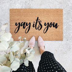 Yay it's You Doormat, Welcome Mat, Custom Doormat, Outdoor Doormat, Cute Doormat, Wedding Gift, Housewarming Gift