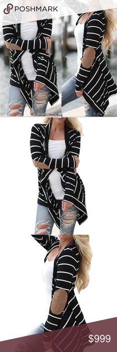 Coming Soon! Hot Fashion Women Striped Cardigan Knitted Outwear Casual Loose Eblow Patchwork! Absolutely gorgeous and great for the upcoming season! Sweaters Cardigans