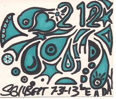 A Doodle A Day #212, ink, 7/31/13