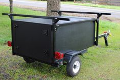 Here is the kayak / camping trailer setup I recently built.  Used my DIY No Weld Rack System and built a plywood storage box underneath.