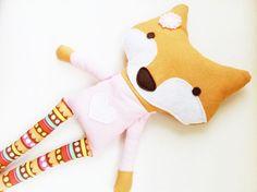 Toy Sewing Pattern - Fox Doll... so cute! ( GandGPatterns on etsy)