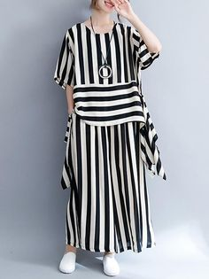 Shop Here For More Loose Casual Linen Dress Ramie Cotton Dress Kaftan National National The World Polka dot Printed Loose Comfortable Cotton Suit Linen Dresses, Cotton Dresses, Hijab Fashion, Fashion Dresses, Gothic Fashion, Pantalon Large, Cotton Suit, Cotton Linen, Mode Hijab