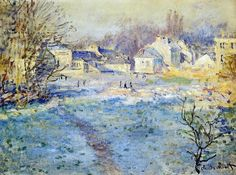 Claude Monet White Frost oil painting reproductions for sale Claude Monet, Monet Paintings, Landscape Paintings, Landscapes, Artist Monet, Art Japonais, Post Impressionism, Impressionist Paintings, Oil Painting Reproductions