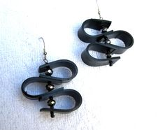 Upcycled Recycled / Bicycle Inner Tube / Black by GroovyGarbage, $24.00