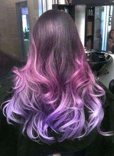 Shatush viola lilla su base castana - Shatush viola per capelli biondi o  castani. Capelli 2bd447e37a63