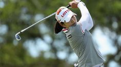 Su-Yeon Jang of South Korea plays a tee shot on the eighth hole during the first round of the LPGA LOTTE Championship Presented By Hershey