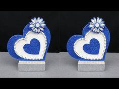 Foam Sheet Crafts, Foam Crafts, Diy Crafts To Sell, Paper Crafts, Paper Toys, Paper Art, Valentine Decorations, Valentine Crafts, Origami Templates