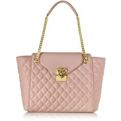 Love Moschino Handbags Quilted Tote (18.290 RUB) ❤ liked on Polyvore featuring bags, handbags, tote bags, pink, white tote bag, pink tote bag, quilted tote, handbags totes and faux leather tote