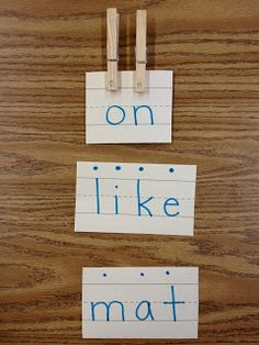 Take sight word learning to the next level. Use index cards and clothespins.