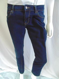 39c29c37 Old Navy The Flirt Womens Denim Jeans Size 6 Short Dark Wash 5 Pocket Low  Rise