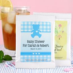 Personalized Iced Tea Baby Shower Favors