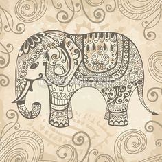 Elephant tattoo. Going to try and paint one like this.