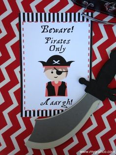 Pirate party sign download