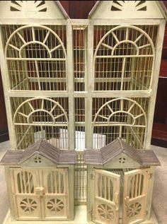 Decorative antique birdcage bird cage house. by JodiBeeBoutique