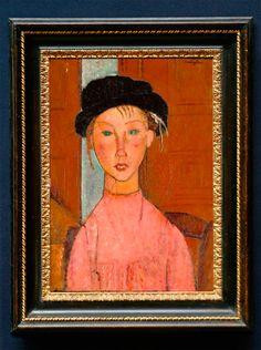 Modigliani Paintings, Amedeo Modigliani, Pinturas Color Pastel, Painting Studio, Modern Artists, Sea Shells, Display, Fine Art, Frame