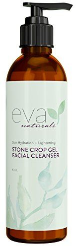 Stone Crop Gel Facial Cleanser by Eva Naturals 6 oz  Natural Skin Lightener Reduces Dark Spots and Pigmentation  Organic Face Wash Defends Against Acne and Breakouts  With Lemongrass Vitamin B5 * Find out more about the great product at the image link.