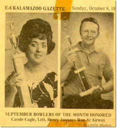 HENRY D JAQUAYS, SR - BOWLER OF THE MONTH