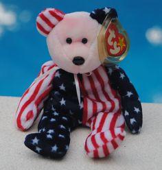 6856b1411e7 1999 TY Beanie Babies Patriotic USA