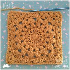 Diy Crochet Granny Square, Crochet Stars, Knit Crochet, Embroidery Patterns, Knitting Patterns, Granny Love, Blanket, Creative, Handmade
