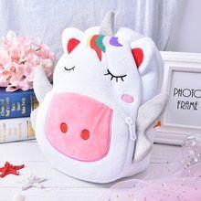 420ccf163108 Cartoon For Girls Boys Animal Lovely Unicorn Backpack Baby Kids School Bags  Plush Children Backpacks Kindergarten Schoolbag(China)