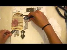 Shimmerz Mixed Media Canvas Collage Tutorial - YouTube