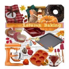 Autumn Baking by bamaannie on Polyvore featuring interior, interiors, interior design, home, home decor, interior decorating, KitchenAid, Le Creuset, Nordic Ware and Wilton